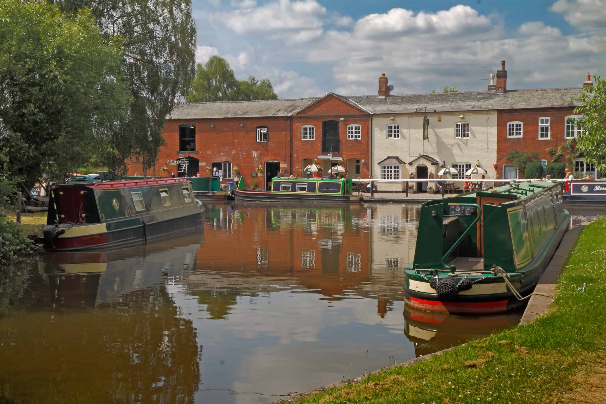 life on the canal is tranquil and quiet