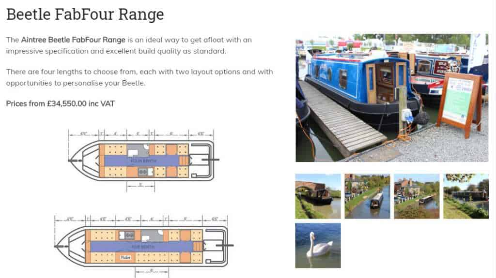 how much is a canal boat?