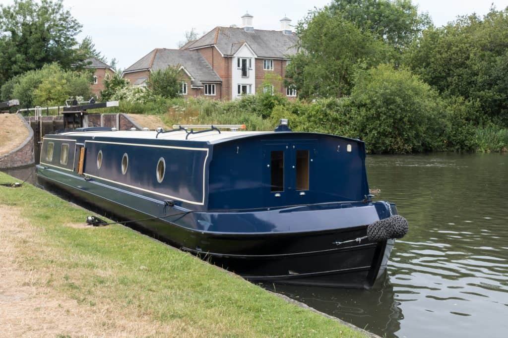 a typical wide-beam canal boat.